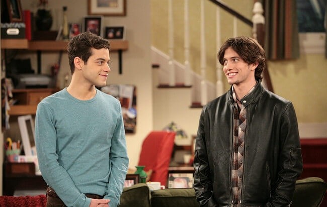 Rami Malek with Jackson Rathbone on The War At Home