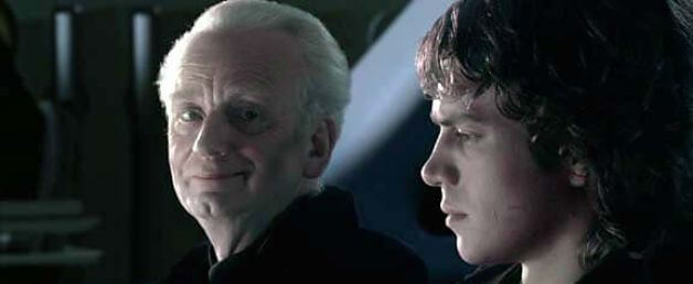 "Anakin and Palpatine - ""You don't need guidance, Anakin. In time, you will learn to trust your feelings."""