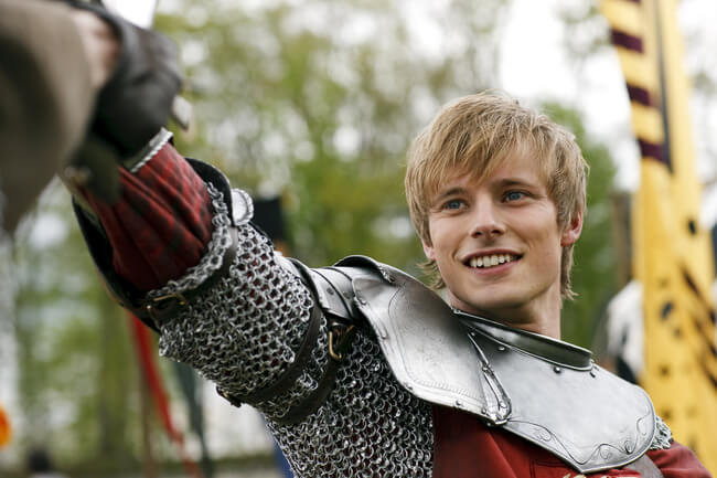 Bradley James as King Arthur