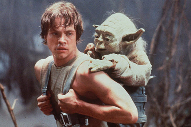 "Luke and Yoda - ""Size matters not. Judge me by my size, do you?"""