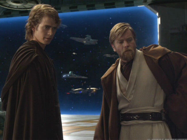 Obi and Anakin - We'll take him together. You go in slowly on the left...