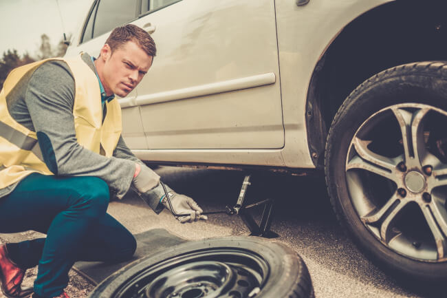 Oh no, a flat tire!