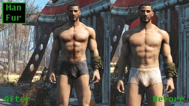 Fallout 4 Man Fur Mod