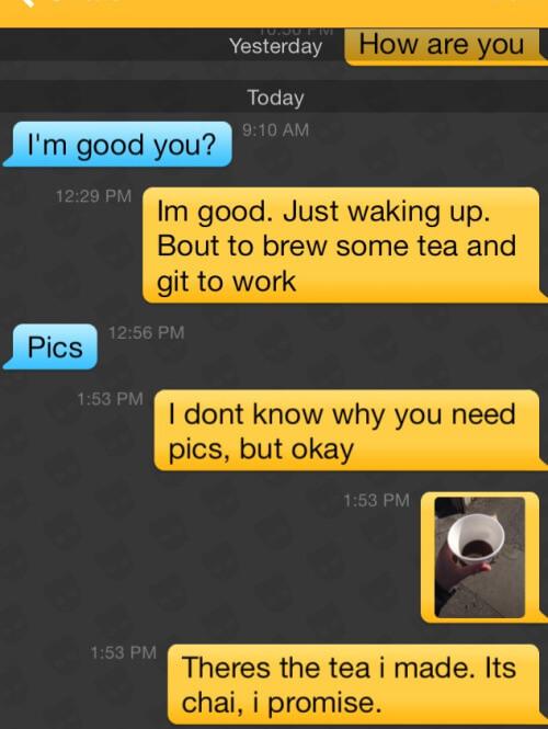 Grindr fails - Morning tea?