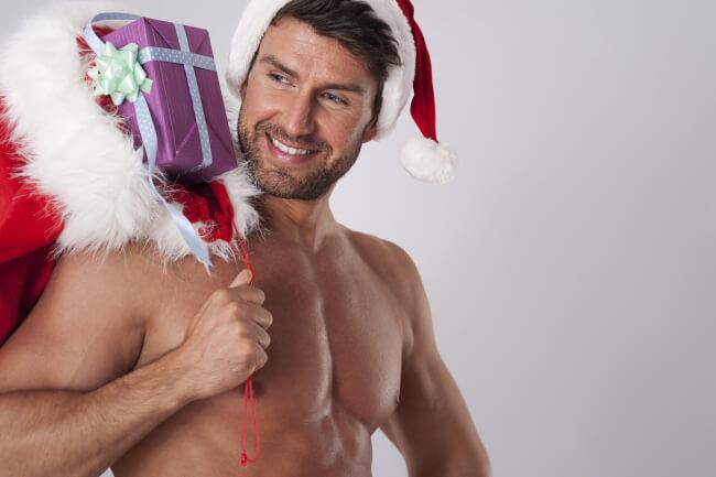 It's Shirtless Santa Claus!