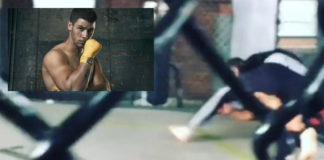 Nick Jonas fighting