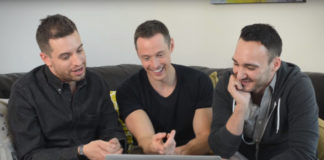 Davey Wavey and gay couple watch porn together for the first time