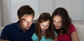 shocked family