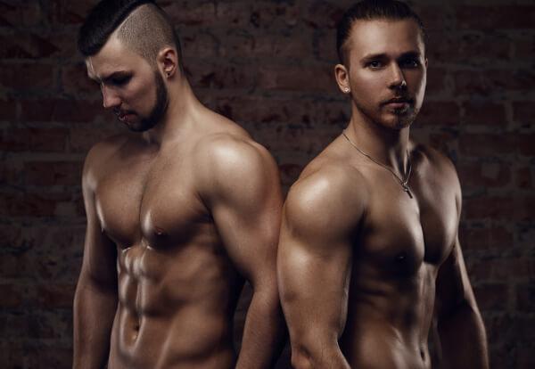 Two muscular men