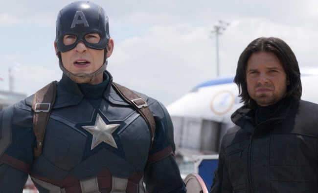 Captain American and Bucky Barnes