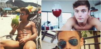 Tom Daley's birthday collage