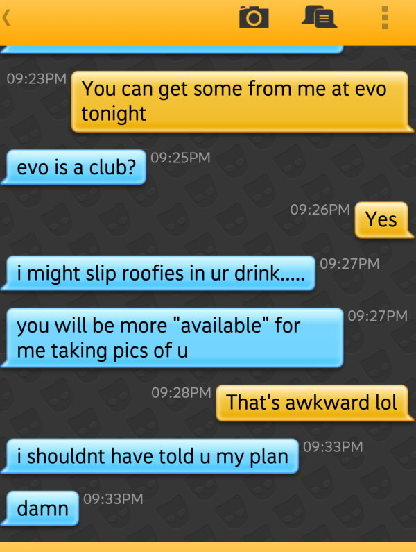 Grindr fails - busted