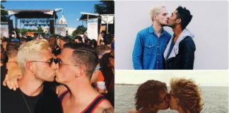 Two Men Kissing hashtag