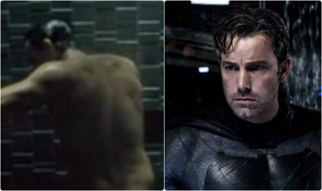 Ben Affleck Batman shower scene