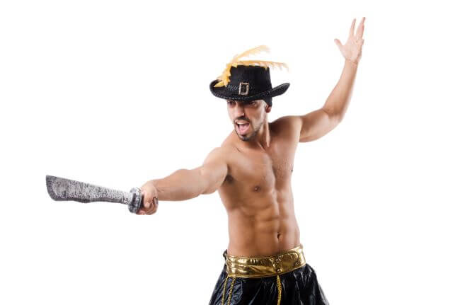 Man in pirate hat