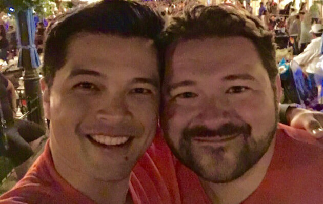 Vincent Rodriguez III and his husband
