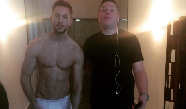 Calvin Harris strips down