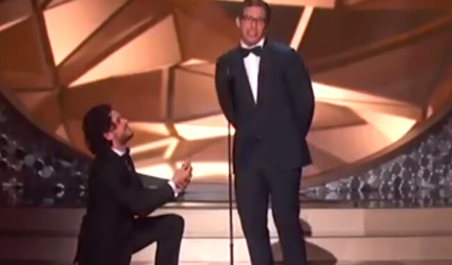 Kit Harington proposing to Andy Samberg