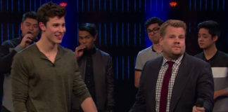 Shawn Mendes with James Corden