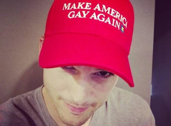 Ashton Kutcher's gay hat
