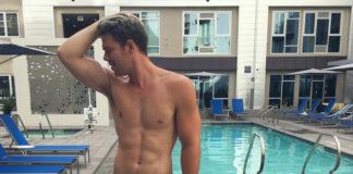 Daniel X Miller in the pool