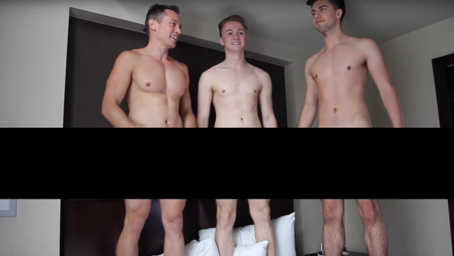 Davey Wavey getting naked with Dan and Jon