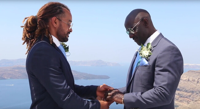 Kevin and Tyrone's gay wedding