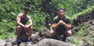 Nick Jonas and Joe Jonas hiking