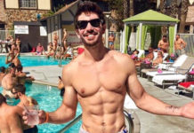 Steve Grand at a pool party
