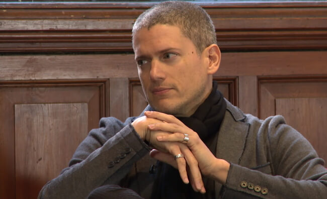 Wentworth Miller at the Oxford Union