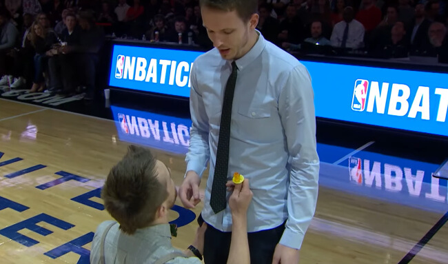 Gay Man Enlists The Help Of The Chicago Bulls For An Amazing Wedding Proposal