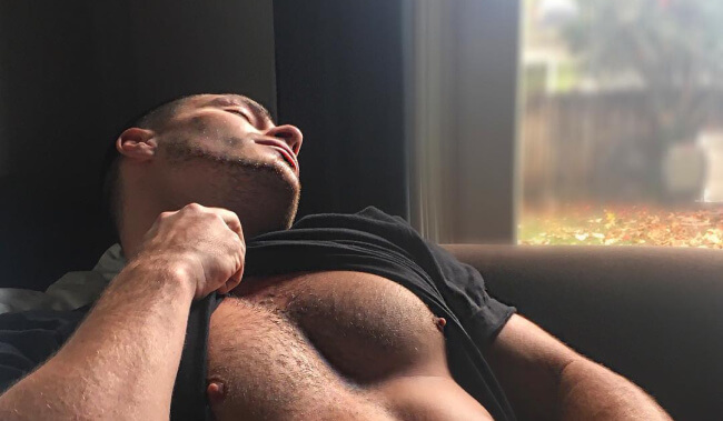 Openly gay actor Colton Haynes in a revealing photo