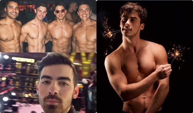 Hot men celebrating new year's eve 2017