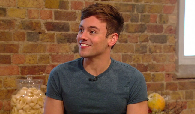 Tom Daley flirted on Kitchen Morning