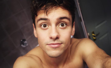 Tom Daley shower shirtless