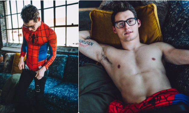 "The ""Sexy Harry Potter"", Zachary Howell, Turns Into A Sexy Spider-Man"