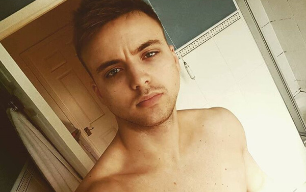 Parry Glasspool star of Hollyoaks
