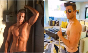 ashley parker angel semi naked