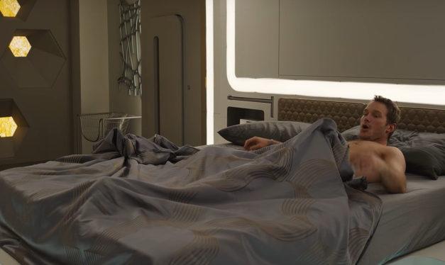 "Watch: Chris Pratt's Morning Wood On The Set Of ""Passengers"""