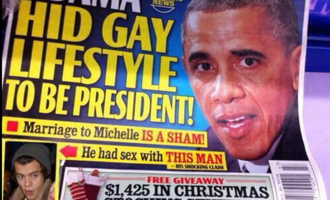 Harry Styles and Obama fake cover