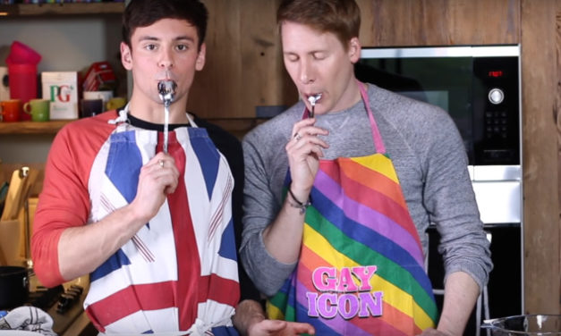 Tom Daley And Dustin Lance Black Turn Easter Baking Into A Sexual Affair [Video]