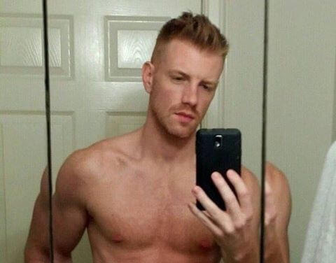 Daniel Newman shirtless bathroom selfie