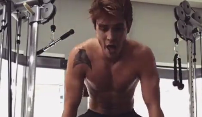 KJ Apa London Gym