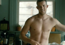 Russell Tovey shirtless looking
