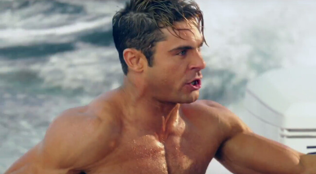 Zac Efron baywatch red band trailer