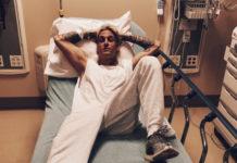 Aaron carter in the hospital