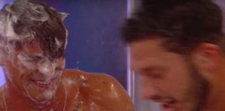 Big Brother UK men shower