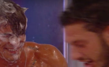 Big Brother UK men shower