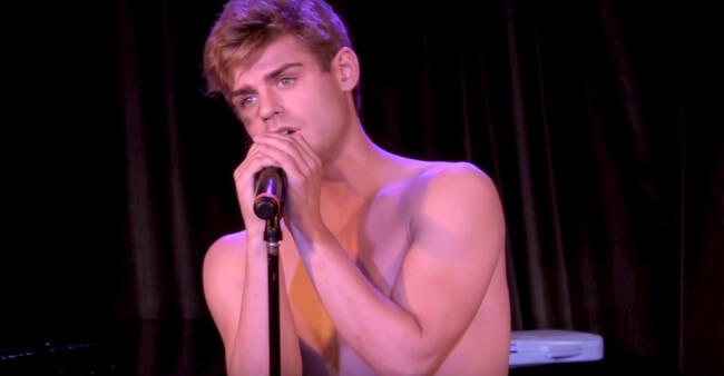 Garrett Clayton singing stitches