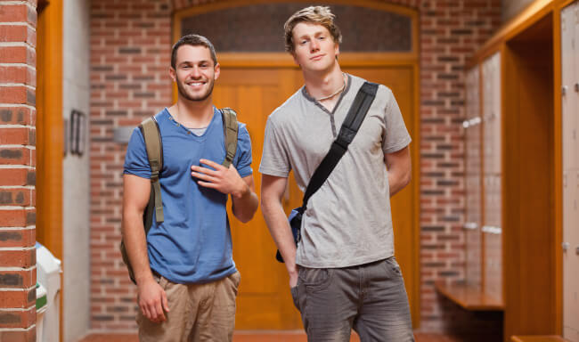 Two men students